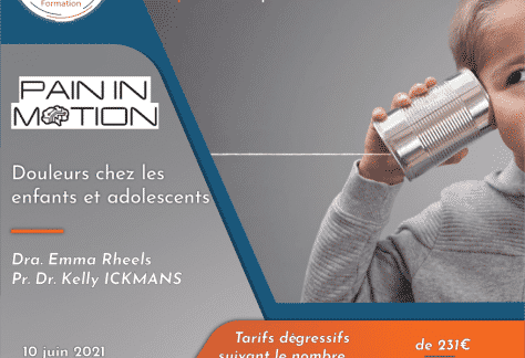 Pain In Motion enfant douleur formation kymo liège