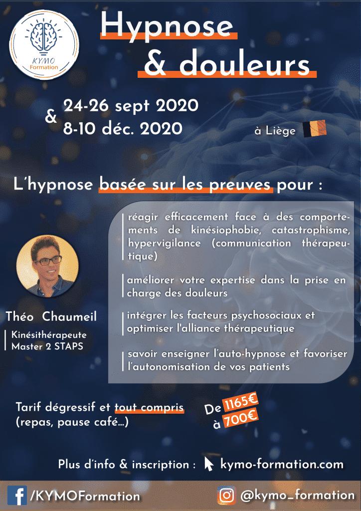 hypnose théo chaumeil kymo formation 2020 liège