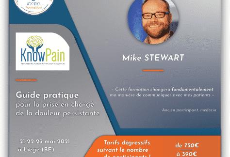 Mike stewart Know Pain formation belgique Liège