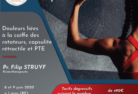Filip Struyf masterclass épaule formation capsulite pte kymo