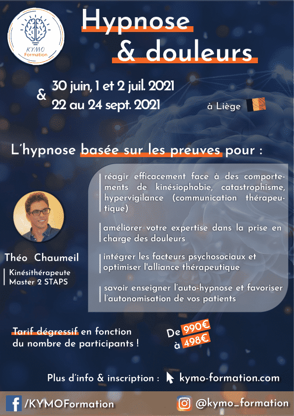 Hypnose 2021 formation KYMO théo chaumeil Liège